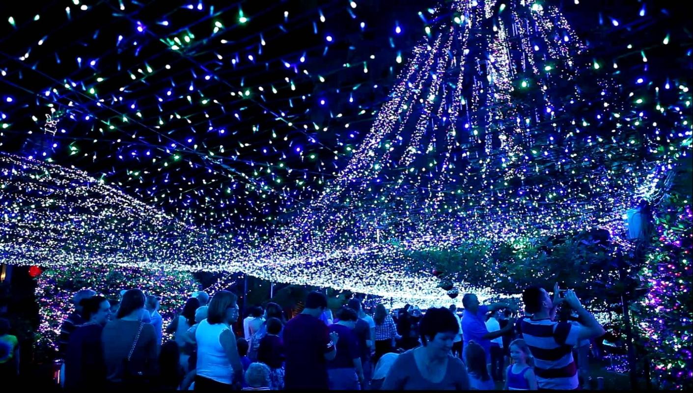 1,2 милиона LED светлини грейнаха в Канбера и поставиха нов Коледен световен рекорд