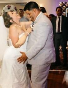 сватба на жена без ръце и крака